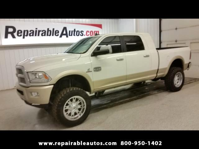 2016 RAM 3500 Longhorn Mega Cab 4WD Repairable Water Damage