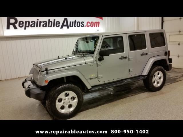 2015 Jeep Wrangler UNLIMITED SAHARA 4x4 Repairable Water Damage