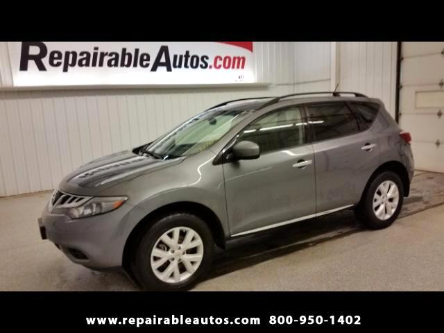 2014 Nissan Murano SV FWD NONREPAIRABLE TITLE Repairable Water Damage