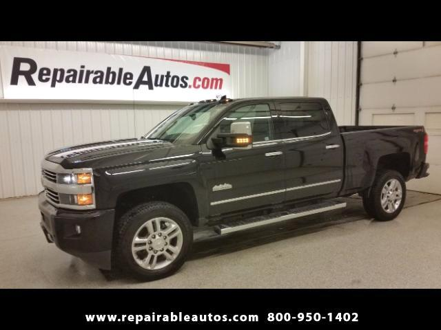 2016 Chevrolet Silverado 2500HD High Country 4WD Repairable Water Damage