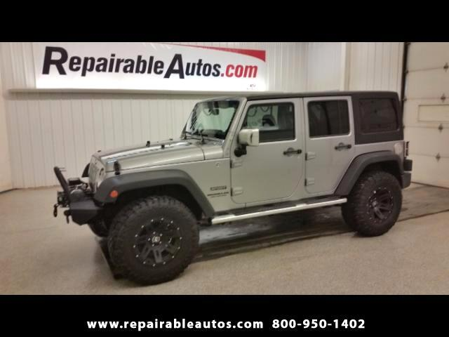 2014 Jeep Wrangler Unlimited Sport 4WD Repairable Water Damage