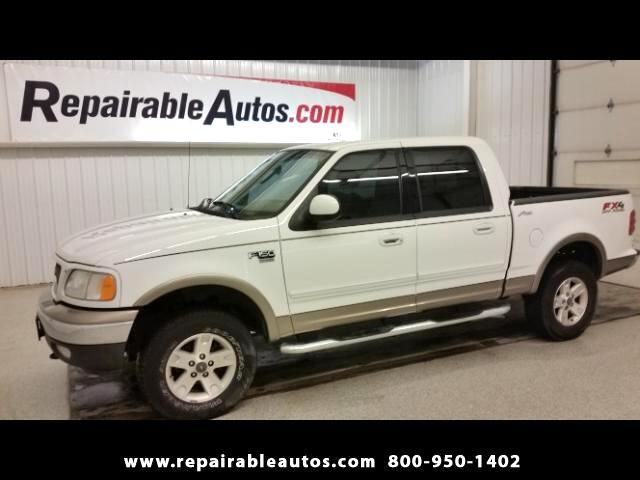 2003 Ford F-150 LARIAT 4WD Repariable Water Damage
