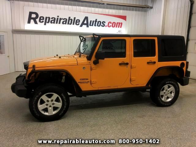 2012 Jeep Wrangler Sport 4X4 Repairable Water Damage