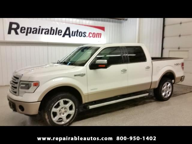 2013 Ford F-150 King Ranch 4X4 Repairable Water Damage