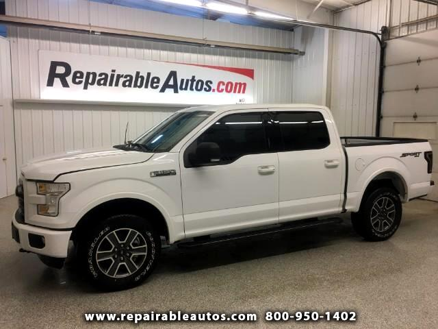 2016 Ford F-150 Sport 4X4 Repairable Water Damage