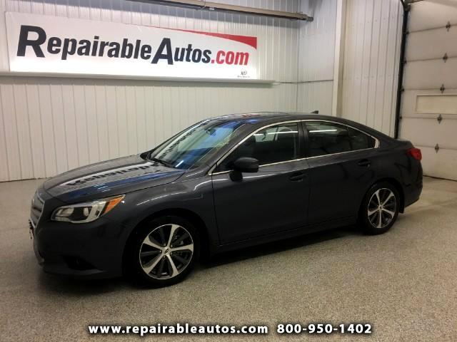 2017 Subaru Legacy AWD 3.6R Repairable Water Damage