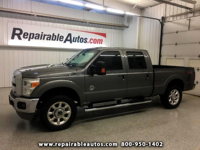 2012 Ford F-250 SD LARIAT CREW CAB 4WD Repairable Water Damage