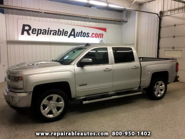 2017 Chevrolet Silverado 1500 LTZ Crew Cab 4WD - Repairable Water Damage