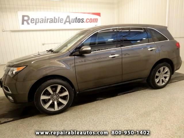 2012 Acura MDX SH AWD Repairable Undercarriage Damage
