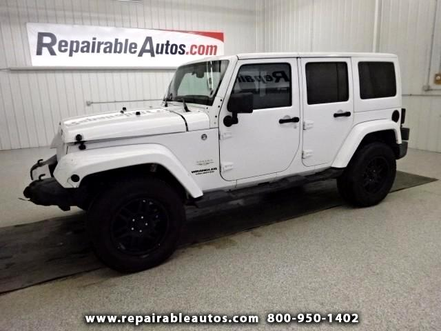 2013 Jeep Wrangler UNLIMITED SAHARA  4WD Repairable Front Damage