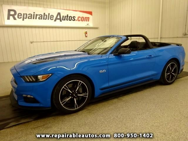 2017 Ford Mustang GT CONVERTIBLE  Repaired rear damage