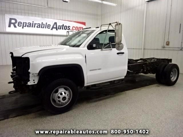 2015 GMC Sierra 3500HD Reg Cab Dually Repairble Front Damage