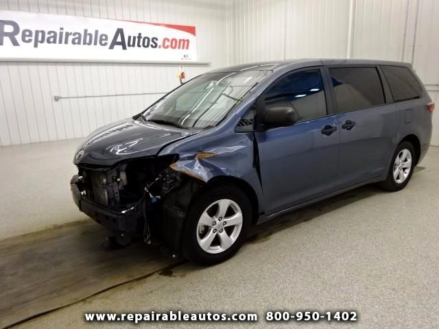 2015 Toyota Sienna L FWD Repairable Front Damage