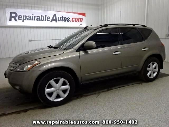 2004 Nissan Murano SL AWD Repairable Hail Damage