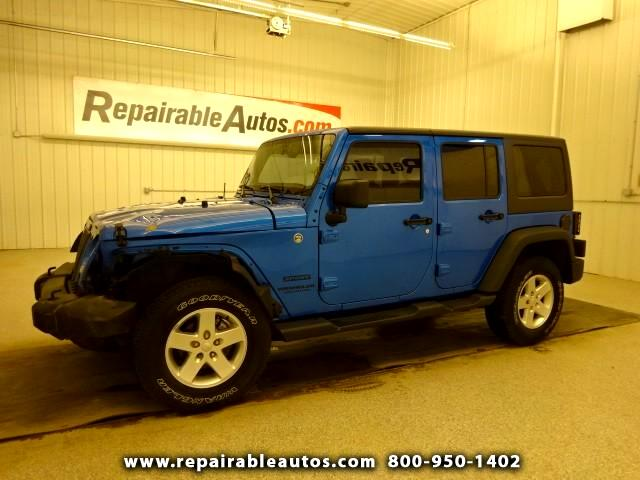 2015 Jeep Wrangler Unlimited Sport Repairable Front Damage