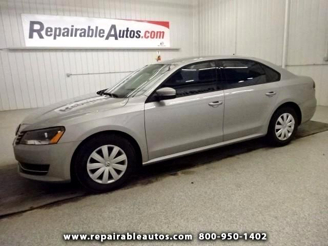 2013 Volkswagen Passat **S Repairable Hail Damage