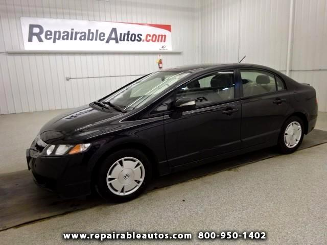 2009 Honda Civic Hybrid Hybrid Repairable Water Damage