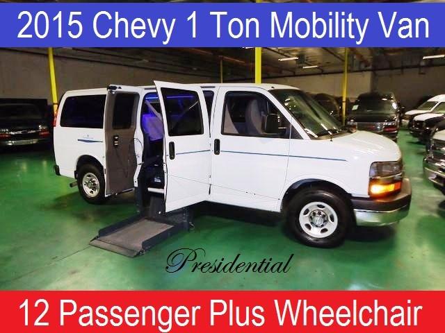 2015 Chevrolet 3500 PRESIDENTIAL 12 PASS WHEELCHAIR VAN