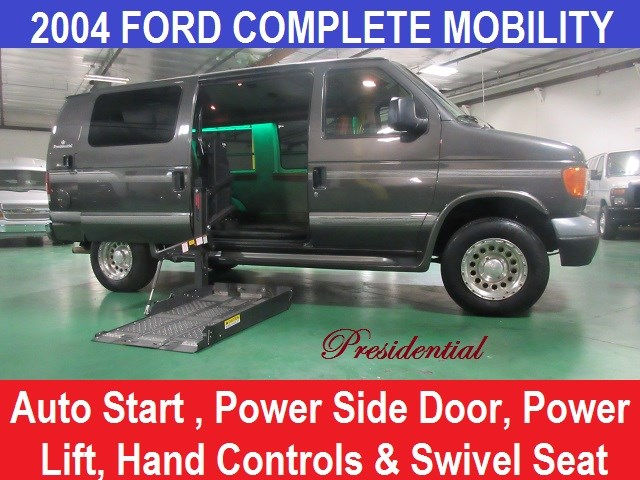 2004 Ford E250 Presidential Wheelchair with Hand Controls