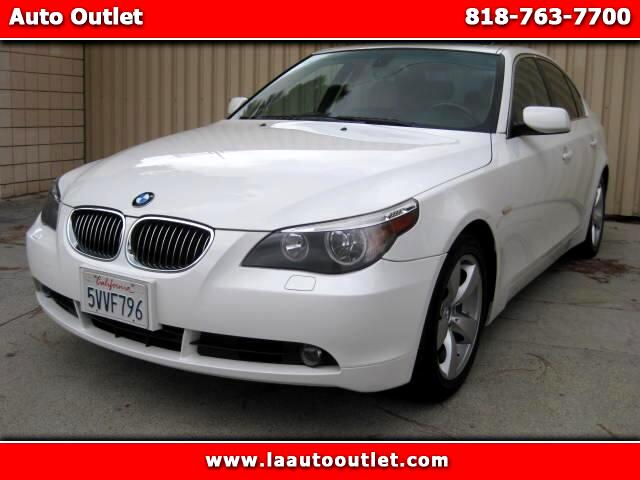 2007 BMW 5-Series 2007 BMW 525 I PREMIUM PACKAGE IS CARFAX CERTFUED SUPER CLEAN CAR WHITE WITH TAN