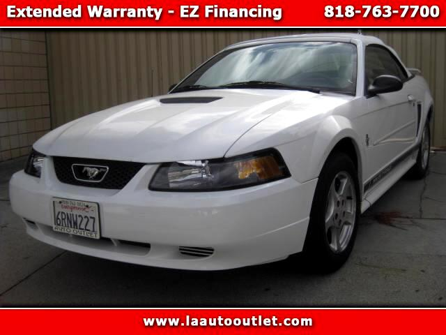 2002 Ford Mustang 2002 FORD MUSTANG IS CARFAX CERTIFIED SUPER CLEAN CAR THRIPLE WHITE WITH LEATHER