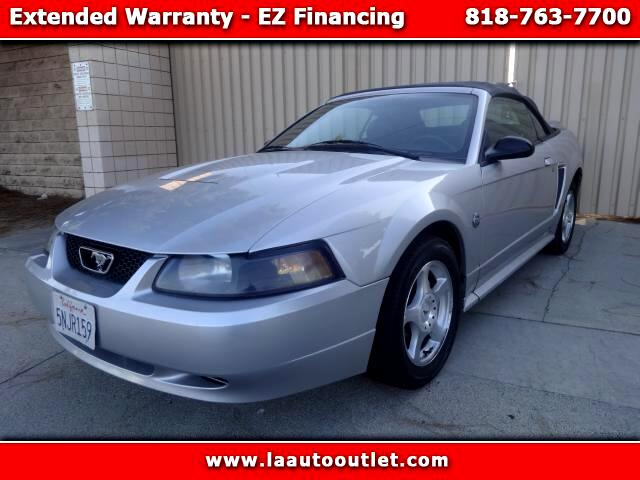 2004 Ford Mustang 2004 FORD MUSTANG CONVERTIBLE IS CARFAX CERTIFIED SUPER CLEAN CAR SILVER WITH BLA