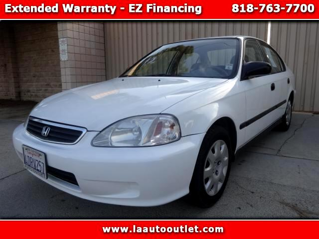 1999 Honda Civic 1999 HONDA CIVIC DX IS CARFAX CERTIFIED 2 OWNER CAR WHITE WITH GRAY INTERIOR AUTO