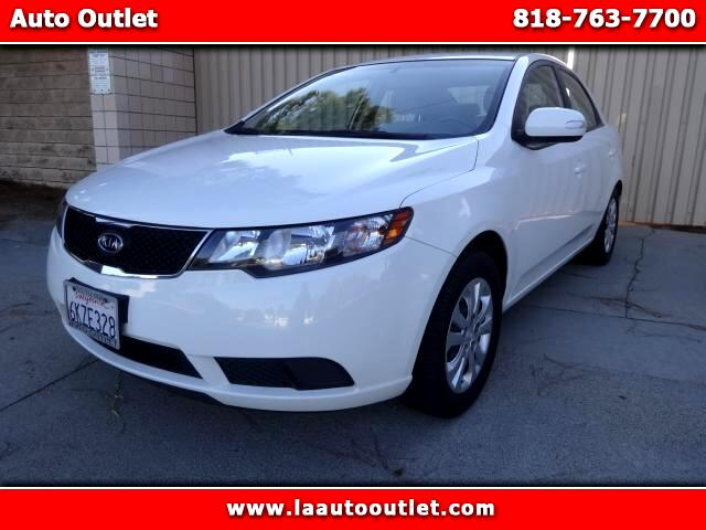 2010 Kia Forte 2010 KIA FORTE EX CARFAX CERTIFIED ONE OWNER IN FACTORY WARRANTY WHITE WITH GRAY INT