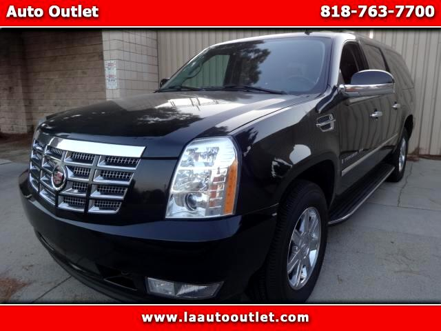2008 Cadillac Escalade 2008 CADILLAC ESCALDE ESV IS CARFAX CERTIFIED SUPER CLEAN SUV BLACK WITH BLA
