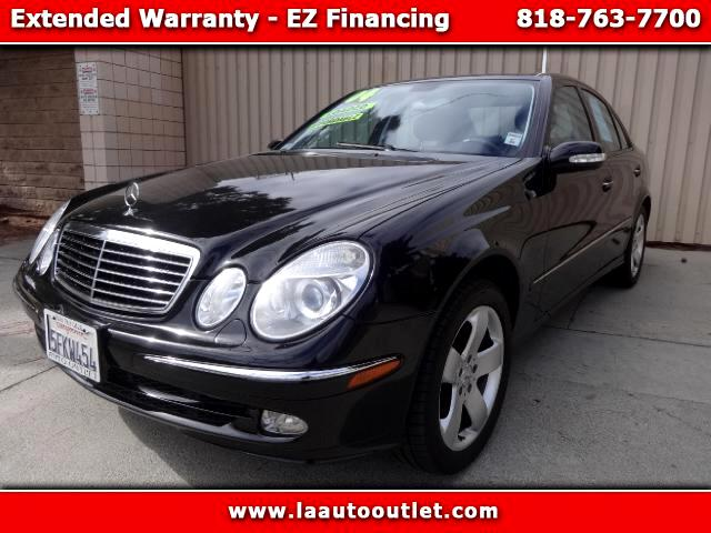 2004 Mercedes E-Class 2004 MBZ E320 IS AUTO CHECK CERTIFIED SUPER CLEAN CAR BLACK WITH BLACK LEATHE