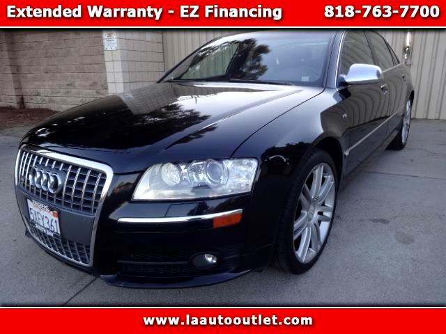 2007 Audi S8 2007 AUDI S8 QUATTRO IS AUTO CHECK CERTIFIED ONE OWNER CAR BLACK WITH BLACK LEATHER IN
