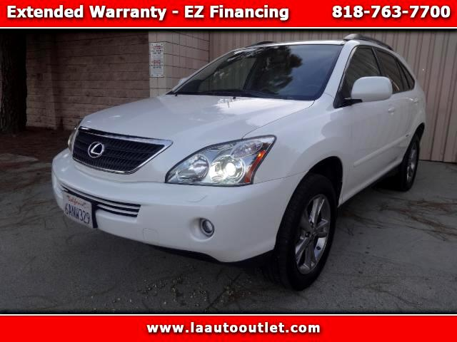 2007 Lexus RX 400h 2007 LEXUS RX400 HYBRID AWD IS AUTO CHECK CERTIFIED ONE OWNER SUV WHITE WITH LIG