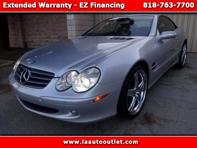 2006 Mercedes SL-Class 2006 MBZ SL 500 IS AUTO CHECK CERTIFIED SUPER CLEAN CAR SILVER WITH BLACK LE