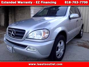 2002 Mercedes M-Class 2002 MBZ ML 320 IS AUTO CHECK CERTIFIED SUPER CLEAN SUV SILVER WITH BLACK LEA