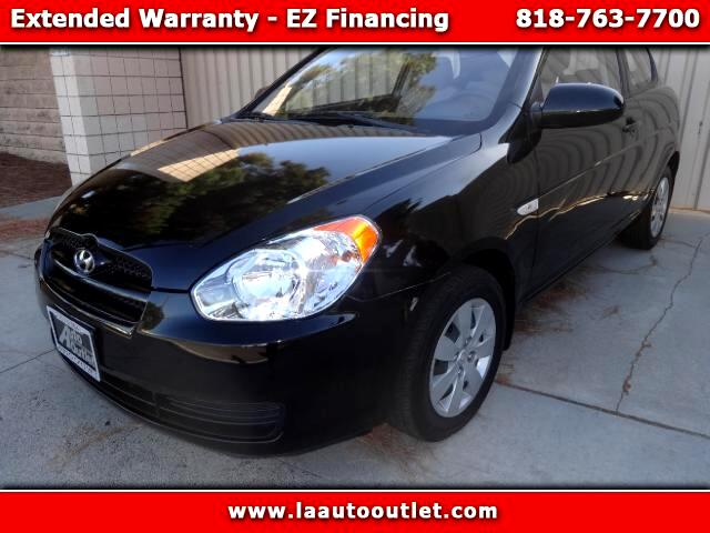 2008 Hyundai Accent 2008 HYUNDAI ACCENTS GS IS AUTO CHECK CERTIFIED ONE OWNER CAR BLACK ON BLACK AU