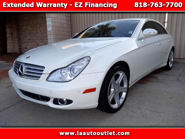 2007 Mercedes CLS-Class 2007 MBZ CLS 550 IS AUTO CHECK CERTIFIED SUPER CLEAN CAR WHITE WITH BEIGE L