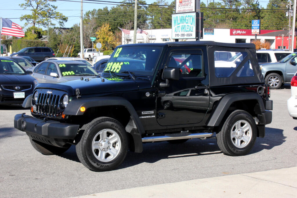 used 2012 jeep wrangler sport 4wd for sale in wilmington. Black Bedroom Furniture Sets. Home Design Ideas