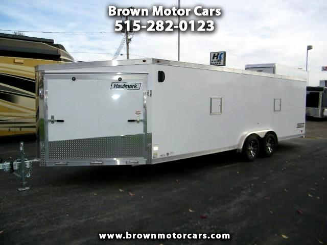 2018 Haulmark Enclosed Trailer HAS 7.5x22 +6ft V-Nose Aluminum Snowmobile Trailer