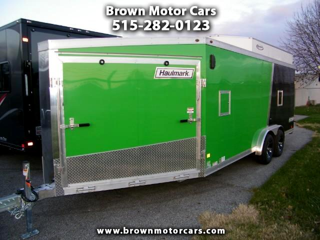 2018 Haulmark Enclosed Trailer HAS 7.5x18+6 Aluminum Snowmobile Trailer