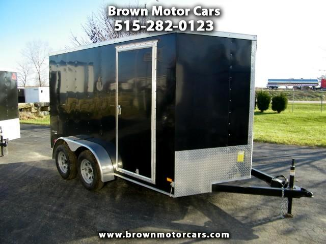 2018 Wells Cargo Trailer Cargo Trac 7x12 V-Nose Enclosed Trailer