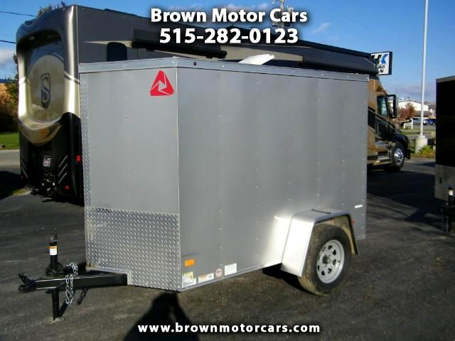 2018 Wells Cargo Trailer Cargo Trac 5x8 V-Nose Enclosed Trailer