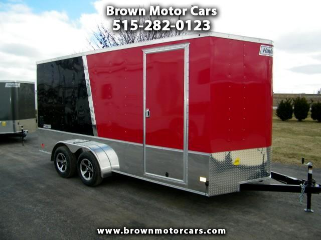 2018 Haulmark Passport 7x16 V-Nose Enclosed Trailer w/12in Extra Height