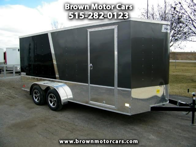2018 Haulmark Passport 7x16 V-Nose Enclosed Trailer w/6in Extra Height