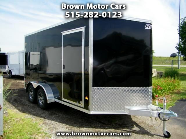 2016 E-Z Hauler Standard Cargo 7x14 V-Nose Aluminum Trailer Enclosed Trailer