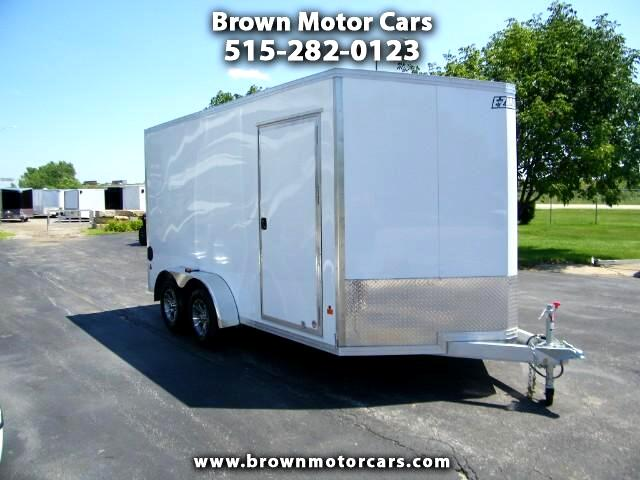 2016 E-Z Hauler Duralite 7x14 V-Nose Aluminum Enclosed Trailer Extra Height
