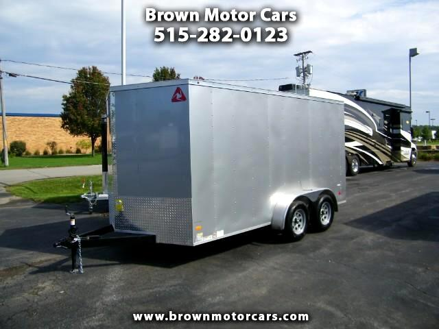 2017 Wells Cargo Trailer Cargo Trac 7x14 V-Nose Enclosed Trailer