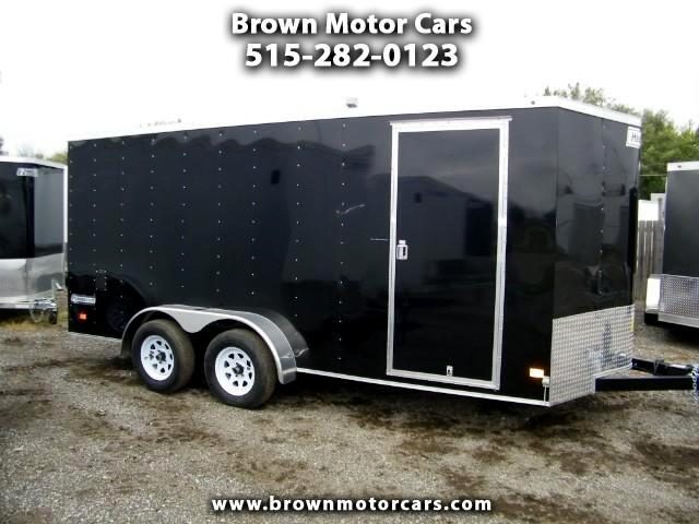 2017 Haulmark Passport V-Nose 7x16 6inch Extra Height Enclosed Trailer