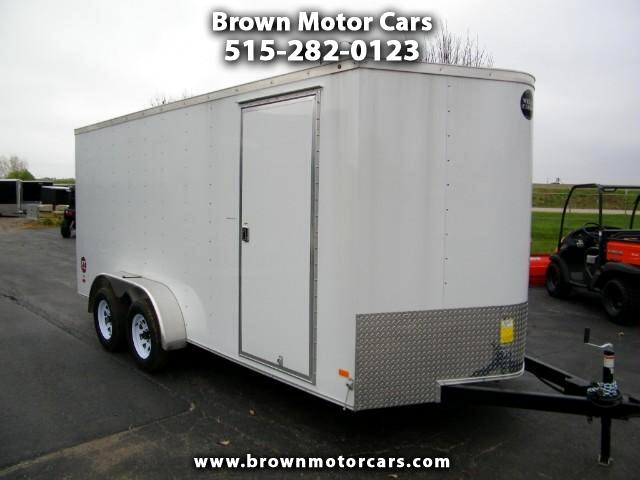 2017 Wells Cargo Fast Trac 7x16 V-Nose Enclosed Trailer Cargo Trailer