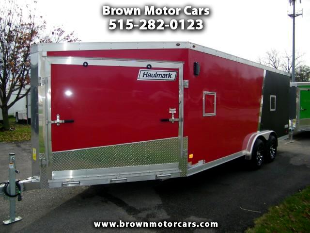 2017 Haulmark Enclosed Trailer HAS 75x18 V-Nose Aluminum Snowmobile Trailer