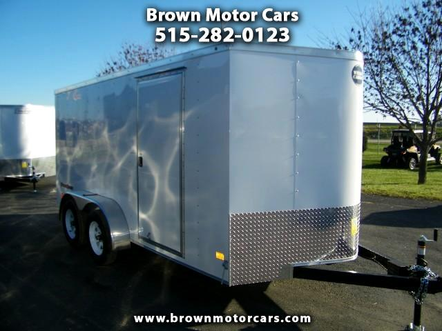 2017 Wells Cargo Fast Trac 7x14 V-Nose Enclosed Trailer Cargo Trailer
